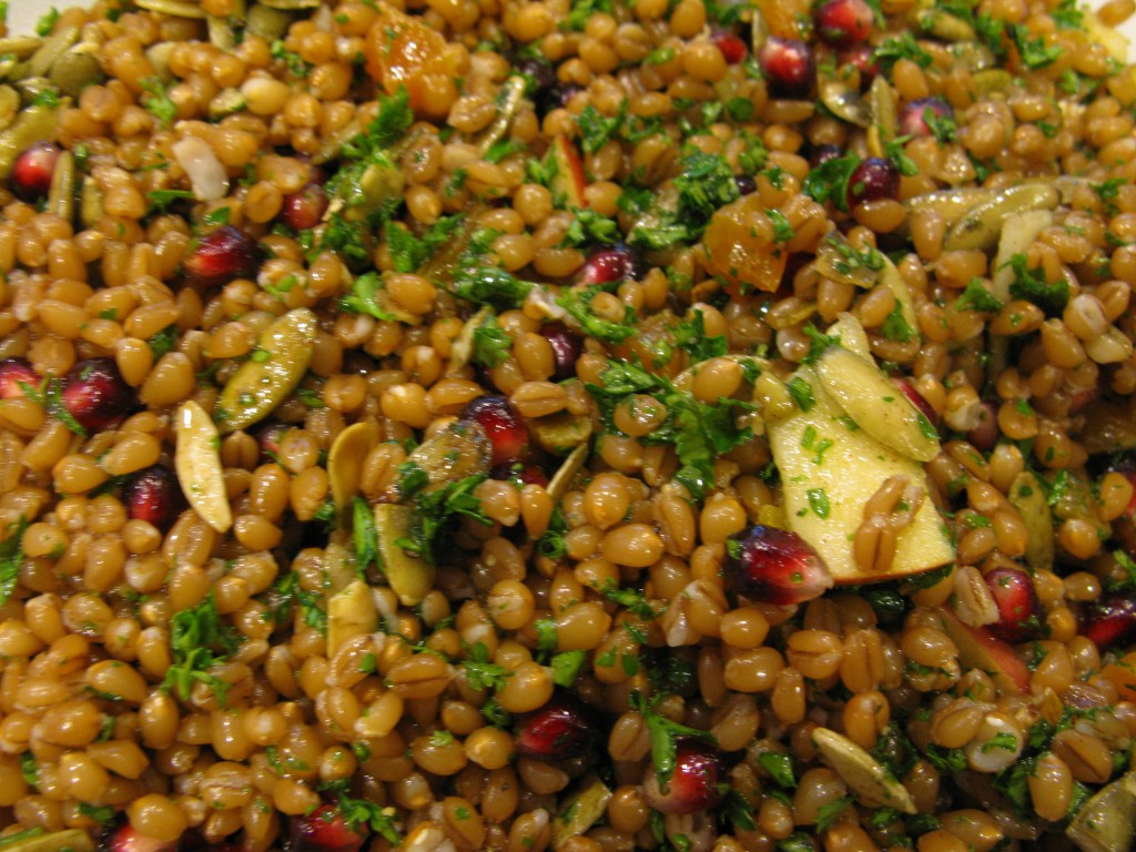 harvest wheat berry salad