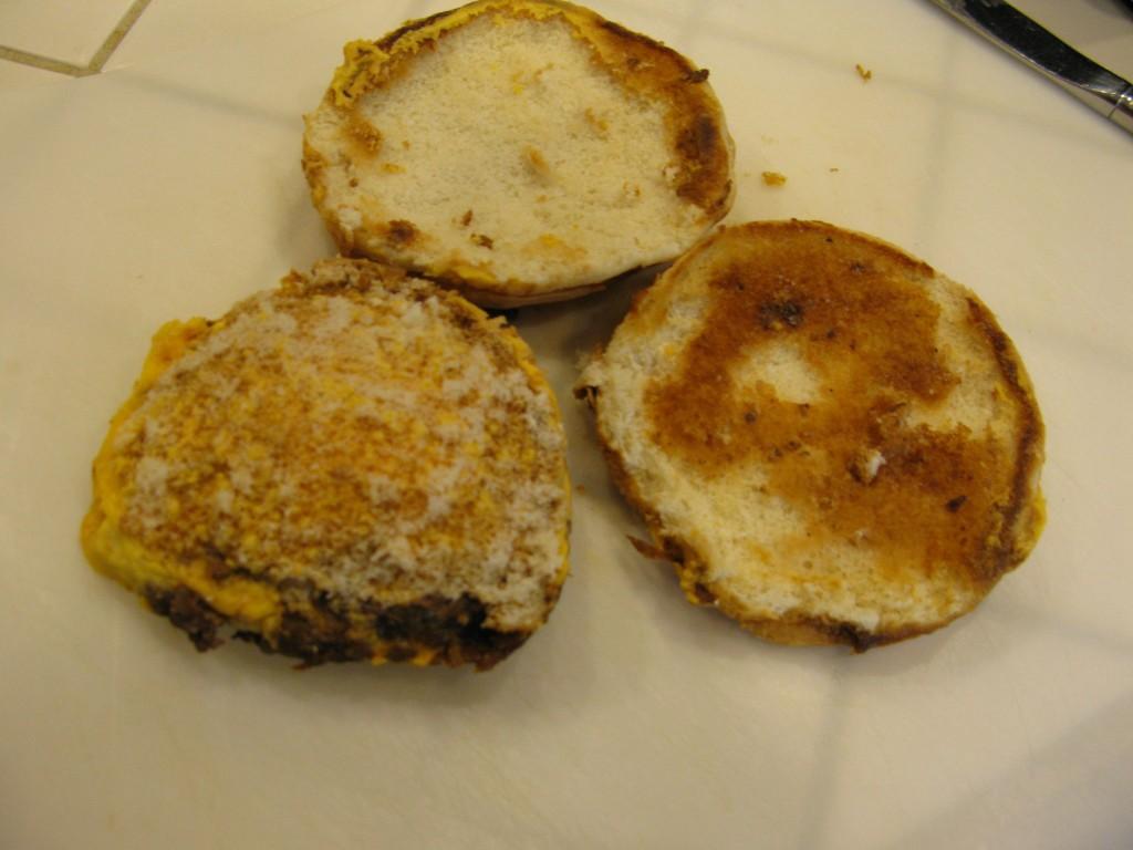 burger seperated from bun